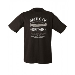 80th Battle of Britain Celebration Anniversary T-shirt Black End of World War II
