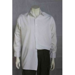 NEW Genuine Surplus British Mans Naval White Dress Shirt Polycotton XS