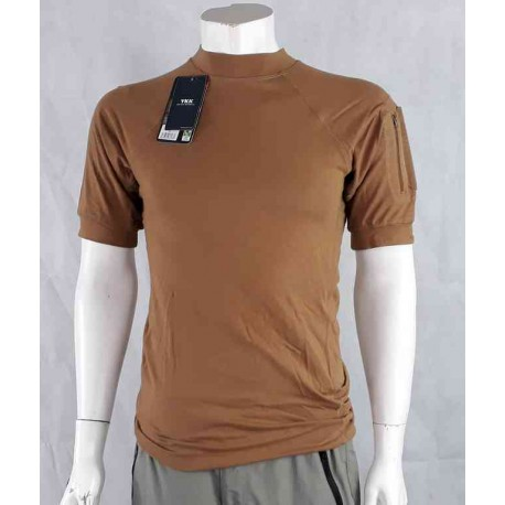 """Ex-Display Tactical T-Shirt Tan  sleeve Pockets 40"""" Chest 2020/32"""