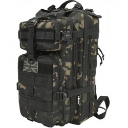 Kombat Tactical Stealth Pack 25litre Daysack Rucksack Backpack MT Black Camo