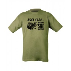 Size Matters  Screenprint T-shirt Gildan Green Cotton Airsoft Military