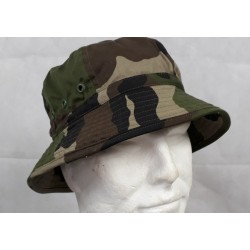 Genuine Surplus French Woodland Boonie Sun Hat Wide Brim Polycotton New CCE Camo
