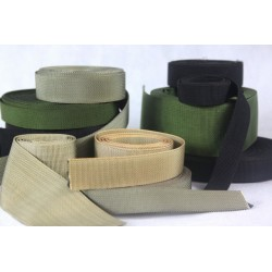 Heavy Duty Nylon Webbing Tape Black Olive Sand IRR Treated High Streng All Sizes