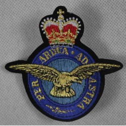 Embroidered RAF Patch Badge Fabric Airforce Textile 80mm x 80mm Sew On