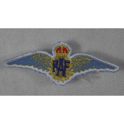Embroidered RAF Wings Patch Badge Fabric Airforce Textile 90mm x 35mm Sew On