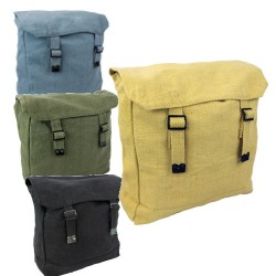 NEW Medium Cotton Army Style Canvas Vintage Satchel Backpack Haversack