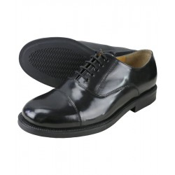 Kombat RAF Style Parade Shoes Black Full Grain Leather Cadets Army Oxford