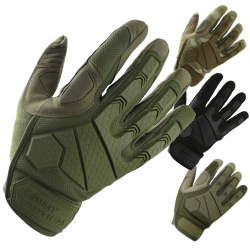 Kombat Alpha Fingerless Gloves Airsoft Black Green Coyote BTP Camo