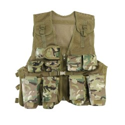 Kids Camouflage Assault Vest Childrens Action play Vest BTP HMTC MTP Style Army Forces