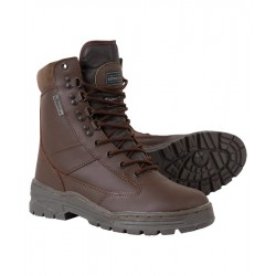 Kombat All Leather Brown Patrol Boot  Rubber Sole MOD Cadets