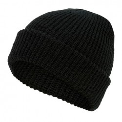Highlander Acrylic Knitted Bob Hat Watch Hat Black Green