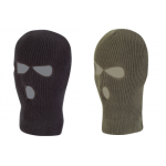 Knitted Balaclava 3 Hole Thermal Acrylic Cold Weather Warm Olive Green Black