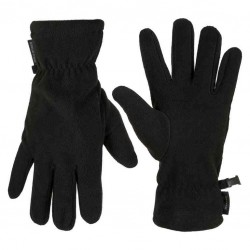 Highlander Polar Fleece Gloves Black Thermal Winter