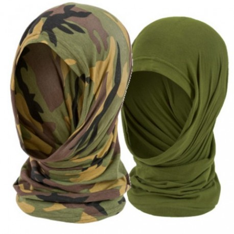 Highlander Cotton Headover Snood Knitted Stretch Camo Face Wrap Mask 5 Way