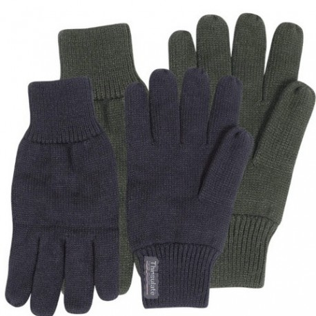 Jack Pyke Thermal Knitted Fingerless Gloves Mitts Mens Thermolite Thinsulate Black Green