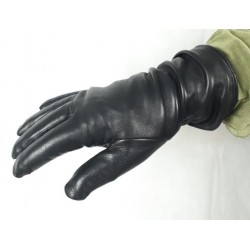 Genuine British Army Gore-tex Lined Black Leather Gloves S95