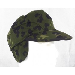 Genuine Surplus Danish Army Field Cap Camouflage Hat Peaked Ear Flaps PolyCotton