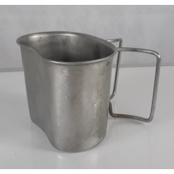 Genuine Surplus Dutch Army Stainless Steel Cup Mug Folding Handles Extra Strong