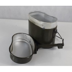 Genuine Surplus Romanian Camp Cook Set 2 Piece Saucepan Billy Can Army Campfire
