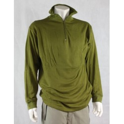 Highlander Military Norgie Norwegian Shirt Style Mid Layer Thermal Zip Neck Top