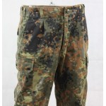 Genuine Surplus German Flektarn Combat Trousers Polycotton Camouflage Flecktarn