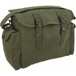 Highlander Heavy Duty Haversack Side Bag Messenger Bag Canvas Satchel Olive