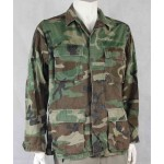 Genuine Surplus Vintage US Army Woodland Camouflage BDU Jacket Small Long 222