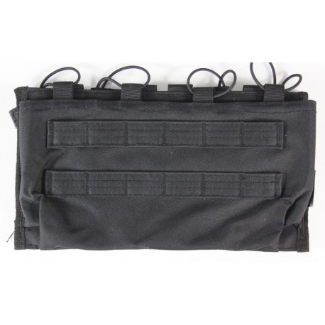 Kombat Triple Quick Release double Mag Pouches Black MOLLE webbing airsoft 21/38