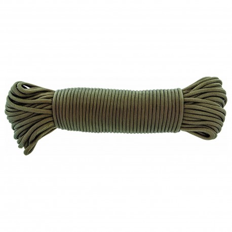 Highlander Strong Military Style Olive Paracord 15m Length Bushcraft String