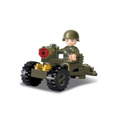 Sluban Army Artillery Piece  Soldier with Cannon Military Vehicle Military Bricks B0118