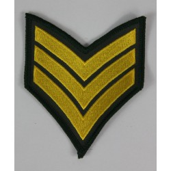 Army Chevron Sergeant Stripe Rank Patch Badge Embroidered 2021/156