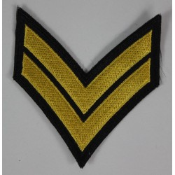 Rank Chevrons Corporal Stripe Military Patch Badge Embroidered 2021/165