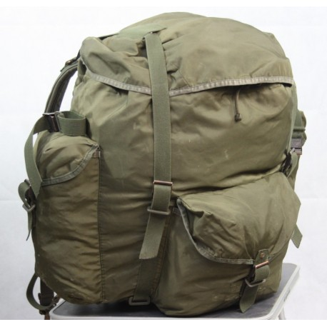 Genuine Surplus Vintage Austrian Alice Pack Rucksack Backpack Olive Green Nylon
