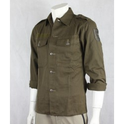 Genuine Surplus Austrian Army Field Shirt HW Olive Brushed Cotton ExArmy