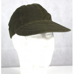 Genuine Surplus Vintage Italian ARMY Olive Peak Cap Forces Military Soft