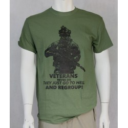 Veterans Never Die Exclusive Printed T-Shirt Army Military Airsoft Tactical