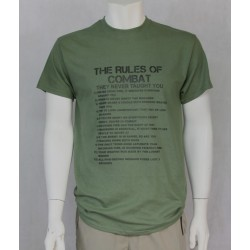 Rules of Combat Exclusive Printed T-Shirt Army Military Airsoft Tactical