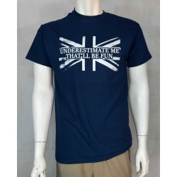 UNDERESTIMATE ME Exclusive Printed T-Shirt Army Military Airsoft Tactical Navy