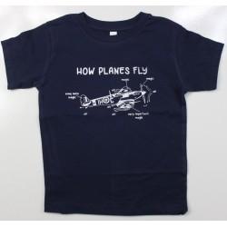 Kids How Planes Fly Aviation Military Style T-Shirt RAF Forces Child's