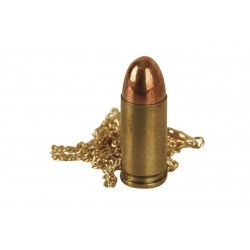 9mm Bullet Neck Chain Gold