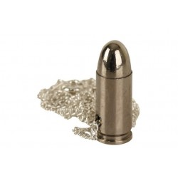 9mm Bullet Neck Chain Silver