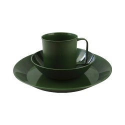 Kombat Plastic Camping Cup Mug Plate Bowl Cereal Tough Olive Green Cadets