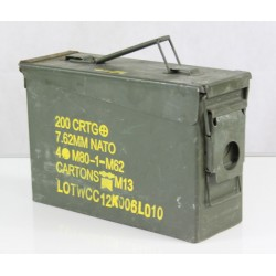 Genuine Surplus NATO 7.62 Ammo Box Metal Strong Military Ammunition Crate