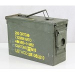 Genuine Surplus NATO 7.62 40mm Ammo Box Metal Strong Military Ammunition Crate