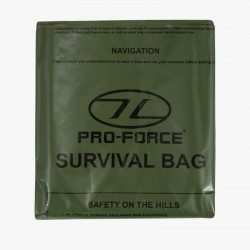 Highlander Survival Emergency Bivi Bag Waterproof Olive Green