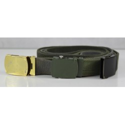 Genuine Surplus Dutch Army Belt 30mm Wide Army Military Metal Buckle Black green