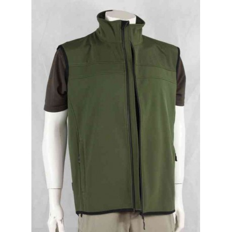 Highlander Softshell Gilet Olive Green Water Resistant Waistcoat
