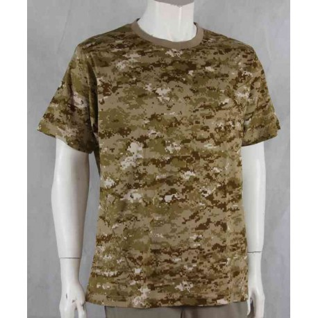 Highlander Digital Desert Camouflage Cotton T-Shirt Camo Sand brown Khaki