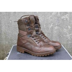 Genuine Surplus British Military Boots YDS Leather Fabric Brown