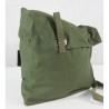 Genuine Surplus Swedish Shoulder Bag Side Messenger Vintage Green Canvas Remodel